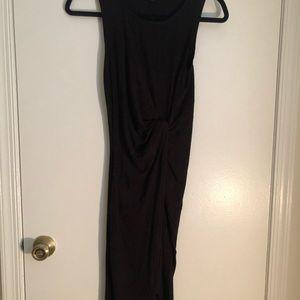 Express Knot Midi Summer Dress Knit Black